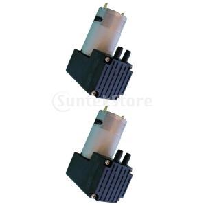 2個セット マイクロエアーポンプ ミニポンプ 真空ポンプ DC9/12/24V 低騒音 連続作業
