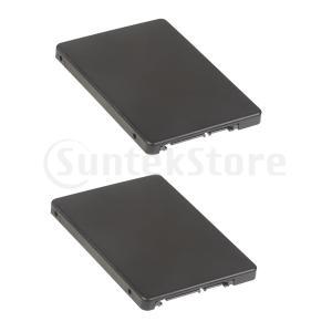 2パックM.2 NGFF(SATA)BキーSSDから2.5インチSATAアダプターカード.ケースエンクロージャ付き stk-shop