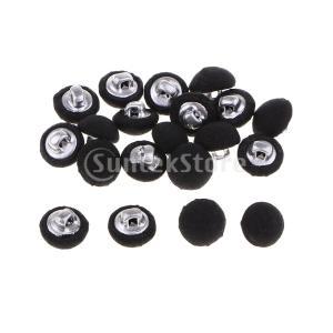 くるみボタン ボタン コートボタン キノコ形 コットン生地 裁縫 多機能 約40個入り stk-shop