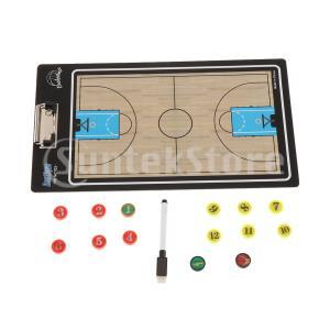 2セット折りたたみ式バスケットボールコーチングボード-ドライイレースコーチボード-ポータブルクリップ...