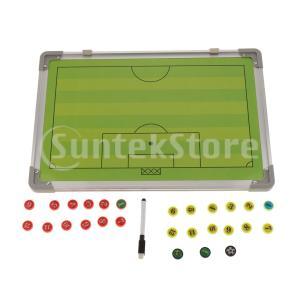 2セットのサッカーサッカーコーチボード、2面の磁気戦略クリップボード、54枚の磁石を備えたフル&ハー...