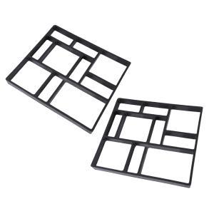2xPlasticガーデン舗装レンガパティオコンクリートスラブパス金型床タイルウォーク|stk-shop