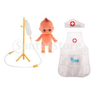 おままごと お医者さん ごっこ遊び 医師 看護師 ロールプレイ おもちゃ 人形 輸液ボトルモデル