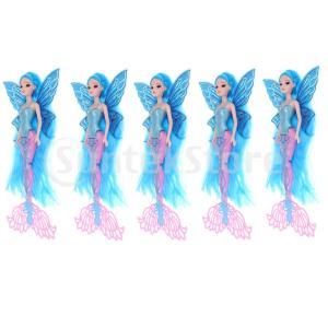 説明: 美しい女性像のおもちゃ古典的な人魚の人形の女の子像モデル子供の誕生日プレゼント。 きらびやか...