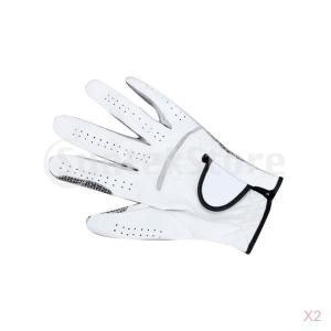 2 Xメンズ左手革ゴルフグローブアンチスリップ、高品質 stk-shop
