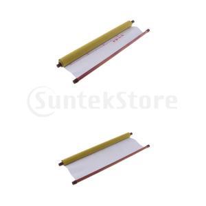 日中書道練習用の水筆布2パック速乾性布布紙59 X 17.7インチ