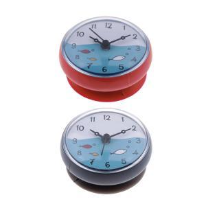 浴室の壁吸引時計防水時間表示家の装飾ギフト2x|stk-shop
