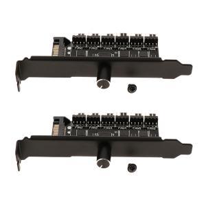 2個/個SATAPowerPCケース6ウェイPCクーラー冷却ファンスピードコントローラーハブ|stk-shop