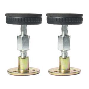 2x調節可能なネジ付きベッドフレーム防振ツール伸縮式サポート47-64mm|stk-shop
