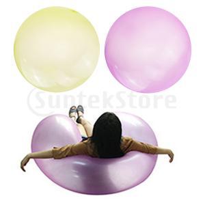 2xインフレータブルバブルボールバブルバルーンアウトドアパーティーイエロー+ L|stk-shop