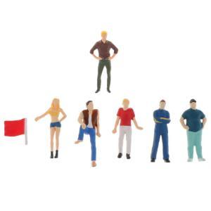 1:64 人形 人物 人間フィギュア塗装人 ストリートシーン 樹脂モデル 情景コレクション 7本入り