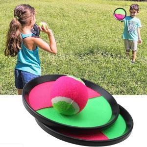 パドルキャッチトスとキャッチボールゲームセットスローキャッチバットボールおもちゃ(2パック) stk-shop