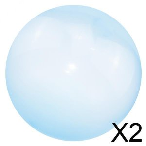 2x インフレータブル バブル ボール スーパー ストレッチ バブル バルーン アウトドア パーティー ブルー S|stk-shop