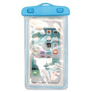 Lovoski 発光 100%防水防塵  ポーチ バッグ パックドライ 電話用ケース -  4色選べる - ブルー