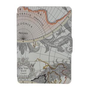 説明: 完全キンドルpaperwhiteのための設計世界地図のパターンPUレザーケースカットアウトは...
