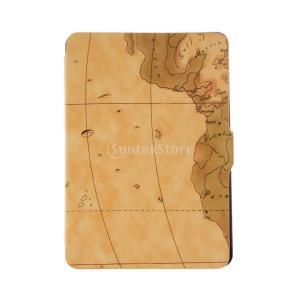 アマゾンのキンドルpaperwhite 1/2/3茶色のための世界地図木靴ケースカバースキン