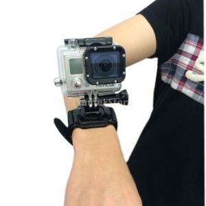 360度回転 マウント 手首ハンドストラップ バンドホルダー GoPro Hero 1 2 3 対応|stk-shop