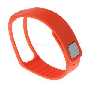 GRALARA Samsung Gear Fit R350 スマートウォッチ対応 交換用 調節可能 ソフトバンド - オレンジ stk-shop