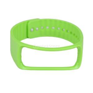 Lovoski Samsung Gear Fit R350スマートウォッチに対応 交換用 調節可能 バンド ソフトバンド (約)225ミリメートル 3色選べる - グリーン stk-shop