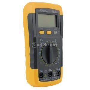 黒とa830l黄色液晶デジタルマルチメータ直流交流電圧マルチテスター|stk-shop