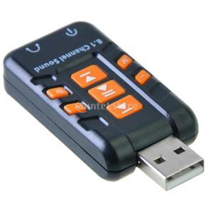 ノーブランド品コンピュータPC バーチャル 8.1 CHサウンドカード用 USB DACヘッドフォン...