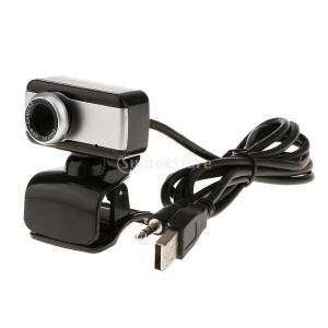 コンピュータのデスクトップのラップトップのためのマイクとusbのウェブカメラのカメラ黒|stk-shop