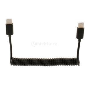 シンク データ ケーブル  コード スパイラル オス to USB 3.1 Cオス プラグ 接続  ...