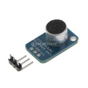 エレクトレット マイクアンプ MAX4466 調整可能 ゲインブレークアウト|stk-shop