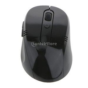 2.4GHz 無線接続 USBレシーバー 光学式 マウス 人間工学 快適 高精度 PC/ラップトップ対応 - 黒|stk-shop