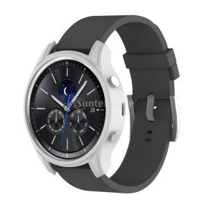 腕時計カバー ケース 保護 シリコン材 柔らかい Samsung Gear S3クラシックスマートウォッチ適用 全10色 - ホワイト stk-shop