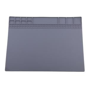 修理マット 絶縁 断熱パッド マグネット 耐高温500℃ はんだ付け シリコン スマホ 電子製品 分解 グレー&ブルー - グレー
