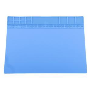 修理マット 絶縁 断熱パッド マグネット 耐高温500℃ はんだ付け シリコン スマホ 電子製品 分解 グレー&ブルー - ブルー|stk-shop