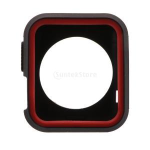 保護カバー Apple Watch用 充電ポート 全2色 38mm&42mm 耐久性 傷防止 シリコーン   - 赤、黒, 42mm