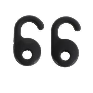 交換用 シリコン イヤホン イヤーチップ ノイズキャンセリング Jabra用 全2色 - ブラック