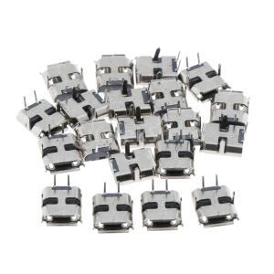 20個マイクロUSBメス4ピンソケットジャックコネクタポートPCB stk-shop