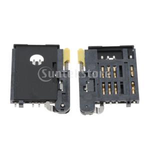 タブレットのための2部分のSimカード読取り装置のホールダーのソケットスロットコネクター6 Pin stk-shop