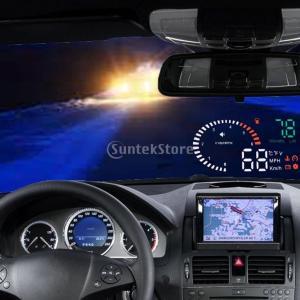 ノーブランド品 マルチカラー 画面 X6 車 HUD ヘッドアップ ディスプレイ OBD II スピード 警告 5.5''|stk-shop