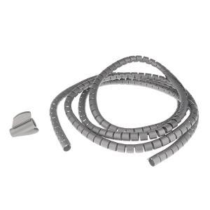 2m PEプラスチック製 ケーブル 整頓 ワイヤスパイラル状 ラップツール 3色4サイズ選べる -...