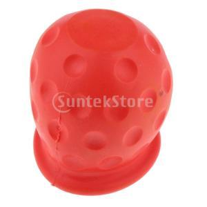 キャラバンのトレーラーの赤のための普遍的な50mmの牽引のボールカバーの帽子の牽引のヒッチ