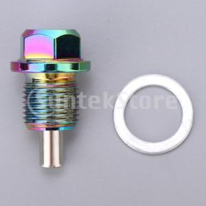 アルミ合金磁気エンジンオイルパンドレンボルトスクリューwガスケットM14×1.25