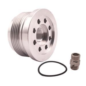 ビレットアルミニウムオイルサンドイッチオイルフィルターの変換はスマート2モデル450に適合