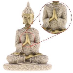 岩彫仏像 合掌仏 砂岩 彫刻 彫像 8cm 装飾 友人 贈り物