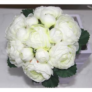 Lovoski ホーム 結婚式 パーティー インテリア 装飾 造花 ジャスミン シルク フラワー ブーケ 全4色選ぶ - ホワイト stk-shop