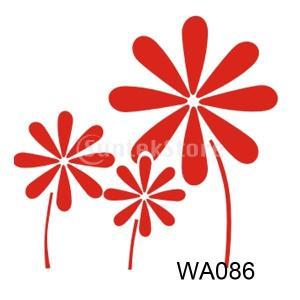 【ノーブランド 品】ホーム インテリア アート 装飾 壁画 ステンシル 壁 ペイント ステンシル 花|stk-shop