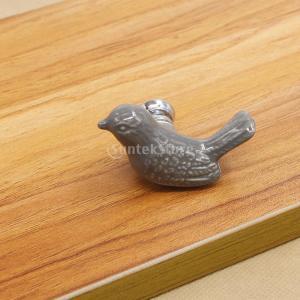 ファッション 可愛い 鳥型 引き出し キャビネット 食器棚 ドア プルノブ ハンドル 取っ手  - グレー|stk-shop