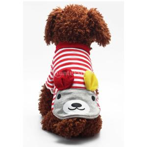 SONONIA ペット 子犬 犬 猫 ベスト Tシャツ 夏 アパレル 服 可愛い 全2色5サイズ選べる - 赤, M stk-shop