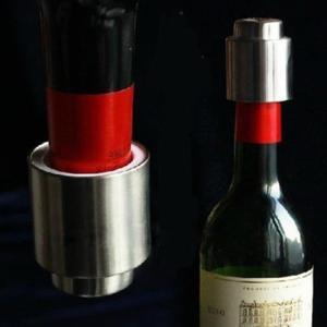 送料無料 高品質ボトルストッパー ステンレス鋼 ワインボトルを真空密封される 貯蔵  ワインプラグ キャップ コルク|stk-shop