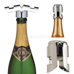ステンレス鋼 スパークリング シーラー ワイン 貯蔵 ボトル ストッパー プラグ キャップ コルク