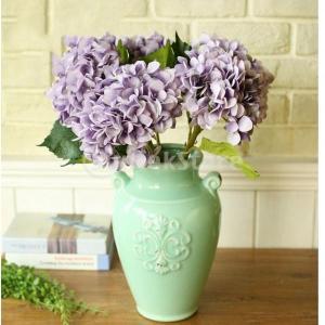 Homyl 6色選べる 造花 装飾 アジサイ 庭 小道具 絹 パーティー 植物 結婚式 - 紫 stk-shop