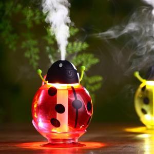 ノーブランド品  USB ミニ てんとう虫形 加湿器 ホーム エアー ディフューザー アロマ ミスト メーカー 全3色 - 赤い|stk-shop